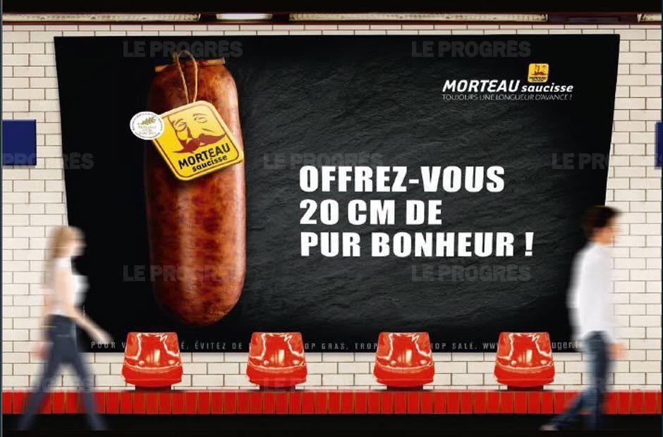 saucisse de Morteau; IGP; affichage; métro parisien