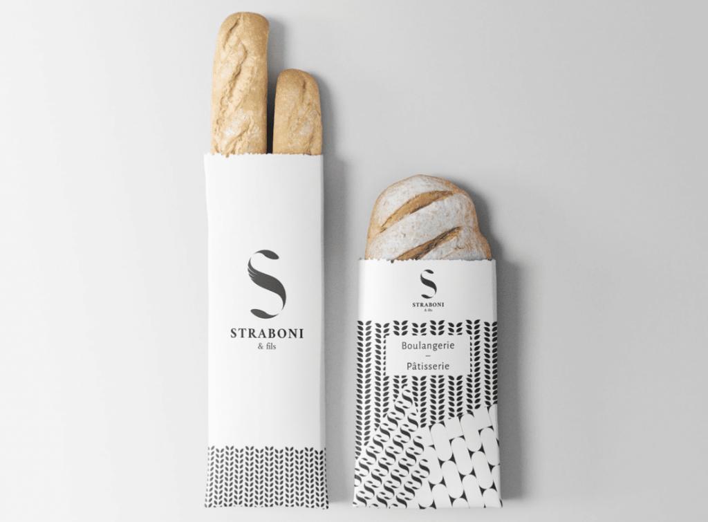 Graphisme pour les sacs à pains et viennoiseries